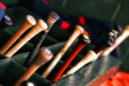 baseball dugout: Baseball  Bats Stock Photo
