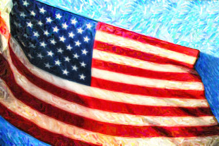 old glory: American Flag Stock Photo