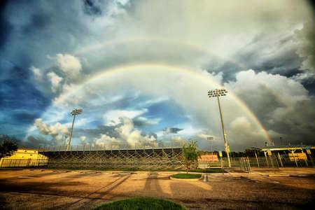 Double Rainbow Stockfoto