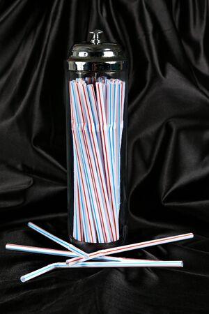 holder: Drinking Straws Holder Stock Photo