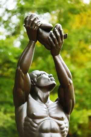 Martin Luther Jr. - Peace Plaza Statue Фото со стока - 47899763