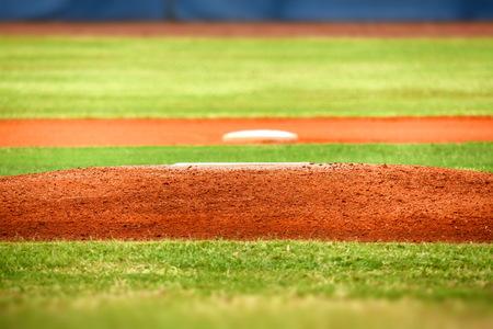 野球投手のマウンド