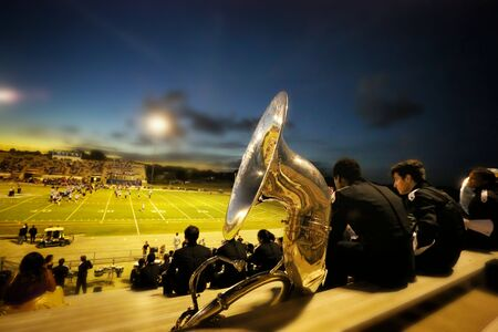 marching: Marching Band Tuba Stock Photo