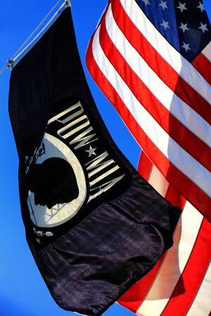prisoner of war: POW - American Flag
