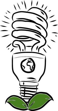 Green Energy Globe with Globe