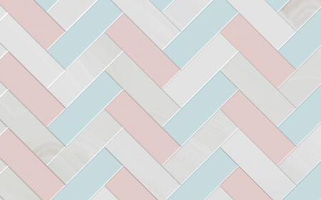 Ceramic tile pattern in gray, blue and pink