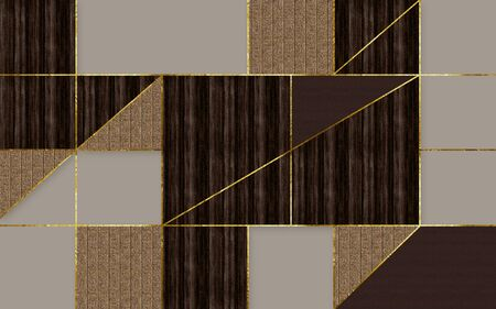 Dark mosaic tiles in gray, beige and brown Standard-Bild - 129455784