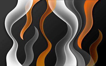 Abstract wavy illustration on a dark background. Stok Fotoğraf