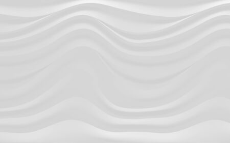 3d illustration, horizontal gray wavy background, lines with shadows Stok Fotoğraf
