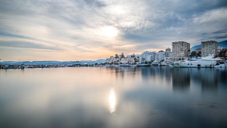 Estepona port at sunset
