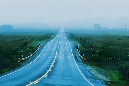 long road: Long road to somewhere.