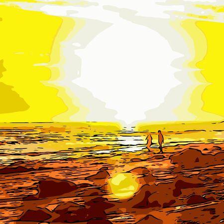 Rom?ntica puesta de sol Foto de archivo - 42091373