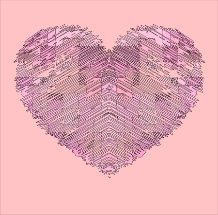 pink heart: pink heart Stock Photo
