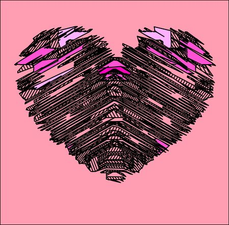 drawing heart Stock Photo
