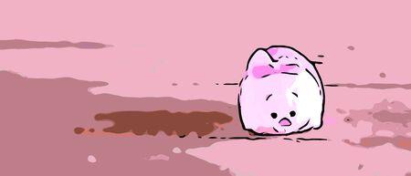 핑크 돼지 인형