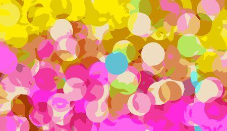 circle shape: drawing circle shape in yellow and pink