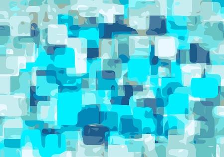 square shape: bright blue square shape