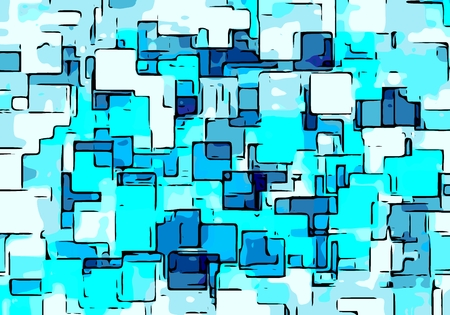 square background: drawing blue square background