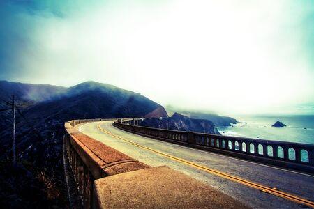 bixby: Bixby bridge,Big Sur,California,USA in winter Stock Photo