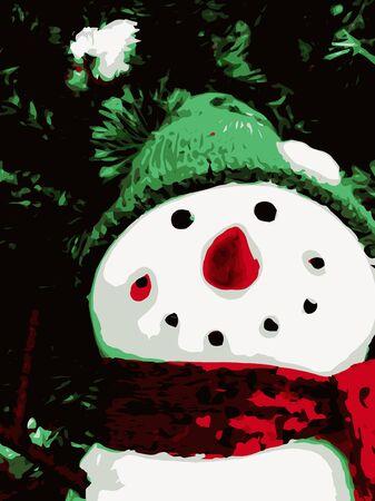 happy holiday with snowman Zdjęcie Seryjne