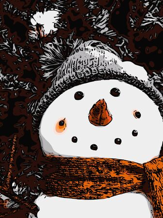 celebrate Christmas with snowman