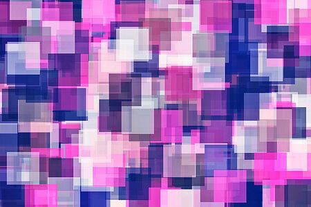 fine arts: purple pink and blue square pattern abstract background