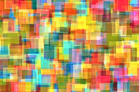 square abstract: colorful painting square abstract background in blue yellow red pink and purple Stock Photo