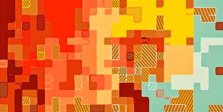 red and blue: colorful drawing abstract background in red brown yellow orange and blue