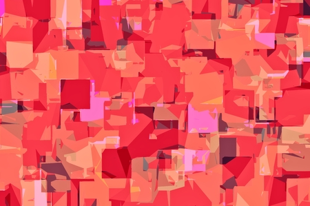 red abstract background: red orange and pink drawing abstract background Stock Photo