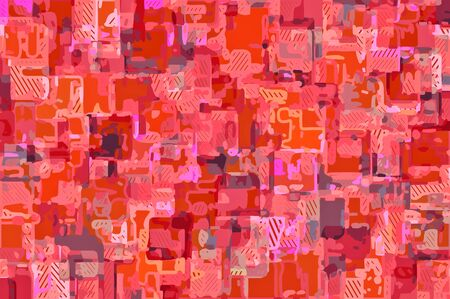 pink red and orange drawing and painting abstract background