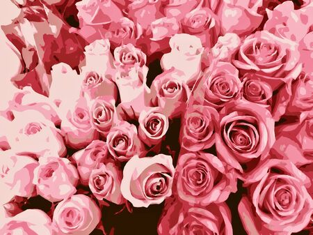 fine detail: fresh pink roses for your love one