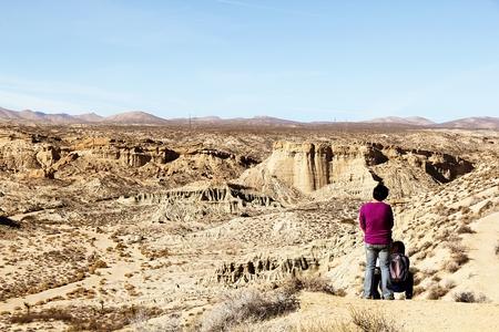 enjoy desert view in summer at Red Rock Canyon, California, USA
