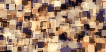 brown: orange brown and blue square abstract background