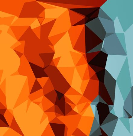 blue green background: green blue brown orange and yellow abstract background