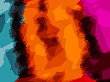 fine detail: blue brown orange yellow and pink painting abstract background