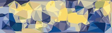 blue and yellow modern abstract background in panorama