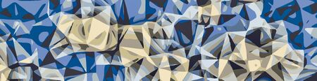 blue and grey abstract background in panorama Stock Photo