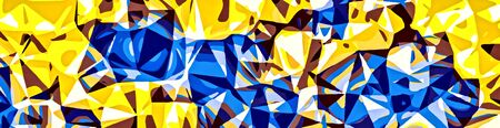 fine detail: blue and yellow painting abstract background in panorama
