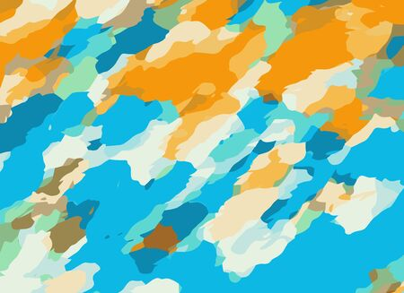fine detail: blue orange and brown dirty painting abstract background