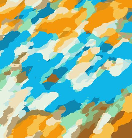 fine detail: orange blue and brown dirty painting abstract background