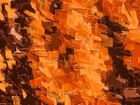 dark brown: brown and dark brown drawing and painting abstract background Stock Photo