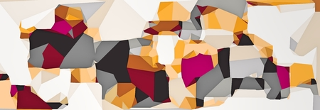 purple pink orange and grey modern abstract background in panorama