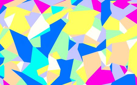 fine detail: colorful painting abstract background in blue yellow pink and green