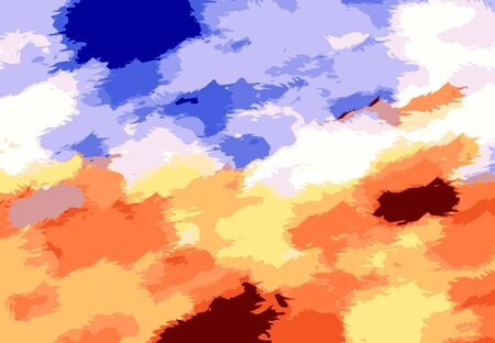 fine detail: yellow blue and brown painting texture background