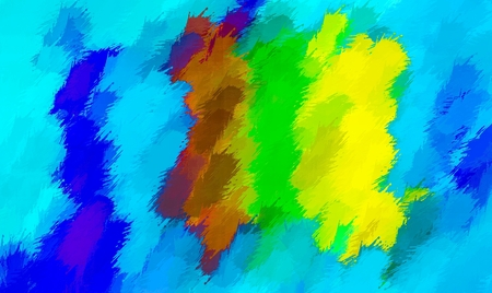 fine detail: blue brown green and yellow painting abstract background