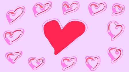pink heart: pink heart shape with pink background