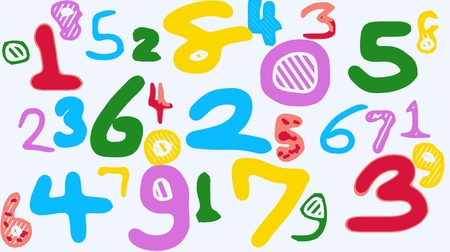 3 4: colorful drawing numbers 1 2 3 4 5 6 7 8 9 0