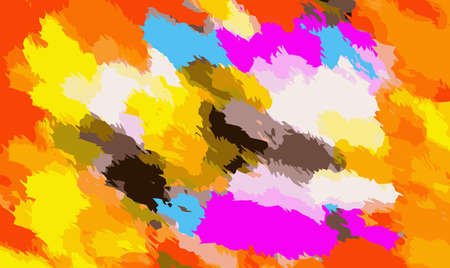 fine detail: orange black yellow pink and blue painting abstract background