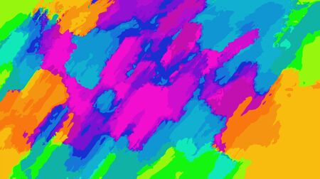 blue orange pink and green painting abstract background