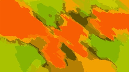 fine detail: orange brown and green painting abstract background Stock Photo